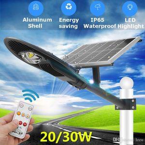 20 / 30W impermeabile via solare del LED Luce solare del radar del sensore strada lampada con la lampada del braccio AC110-220V Industrial Light LED