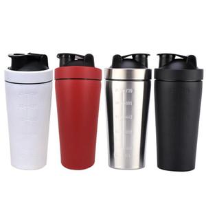 Shaker Cups 304 Proteine in acciaio inox per palestra Fitness Sport-4 Colori Grande capacità Milkshake Grande diametro Misura Cup DH0573