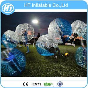 Frete Grátis PVC 8 PCS (4 Azul + 4 Red) 1.5 m de Diâmetro Inflável Bolha Bumper Ball Zorb Bola De Futebol