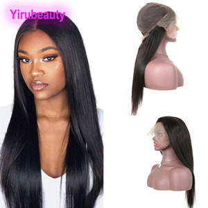 Malaisien Virgin Hair Droit 13x6 Dentelle Dentelle Frontière Perruques Nautrale Couleur Nautrale Perruques de cheveux humains 13 sur 6 Perruque de dentelle Yirubeauty