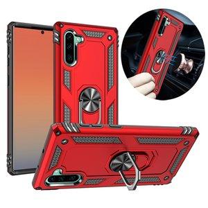 Bague d'armure hybride Stand Stand Sut de voiture magnétique Cas pour iPhone 12 11 Pro Max x XR XS 8 7 Samsung S8 S9 S10 Plus S20 Fe Note 9 10 M01 M51 A10S A20SS