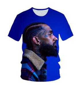 Nova Moda Feminina Homens Nipsey Hussle Engraçado 3d Impressão Unisex T-shirt Ocasional T Camisa de Hip Hop Verão Tops XB039