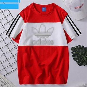 Mens Designer T-Shirts Summer Fashion Mens Womens Top Tees Brand Hiphop Short Sleeves T-shirts Spring Panelled Tshirts Streetwears 2050501V