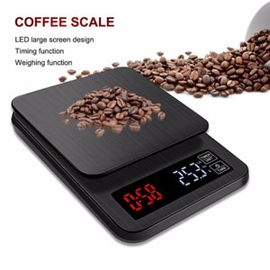 New Mini Lcd Digital Electronic Drip Coffee Scale With Timer 3kg 5kg 0.1g Digital Coffee Weight Household Drip