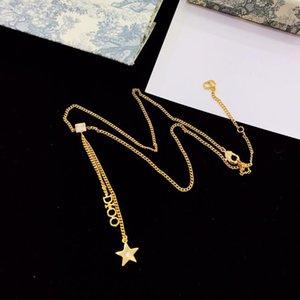 Neue klassische Französisch fünfzackigen Stern Brief Designer-Schmuck Luxus-Designer-Schmuck Frauen Halskette