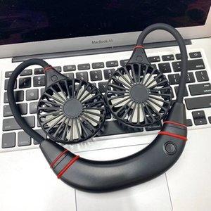 Nouveau Mini Portable power bank Fan USB Rechargeable Mains libres Neckband Fans Wearable charge de téléphone portable Sports Lazy Air Ventilateur de Refroidissement