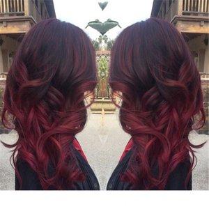 Ombre Hair Индийский Малайский перуанский бразильский пучки волос Body Weave 1B 99J Wine Red Hair Products