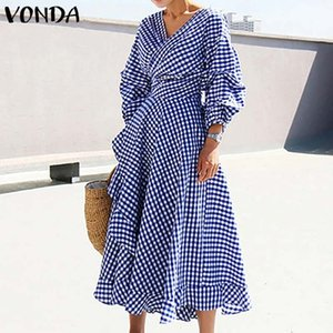 Office Ladies Dress Vintage Dot Printed Dress 2020 Summer Women Casual Loose Beach Party Sundress Plus Size Vestidos S-5XL