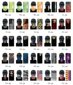 Pesca US Stock 3D Sport Skull Scarf biciclette bandane bandiera scudo Camo maschera di protezione fascia Bandana Headwear Anello Sciarpa passamontagna bicicletta