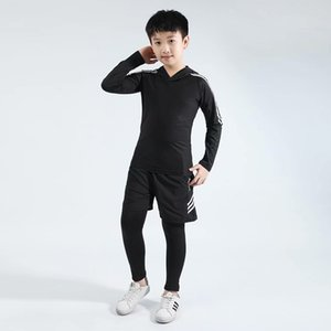 Kids Boxing Compression Set Jersey + Pants Kids Running Basketball T-shirts Tight Pants Teenage Sportswear MMA Rashguard