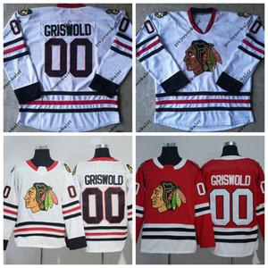 De vacaciones para hombre Clark Griswold 00 Nacional de Lampoon de Navidad de hockey sobre hielo Jersey doble cosido nombre y número en el envío libre