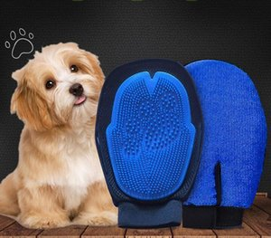 2020 Pet Hair Glove Dog Brush Comb For Pet Grooming Dog Bathing Gloves Cleaning Massage Supply For Animal Finger Cleaning Cat Hair Glove