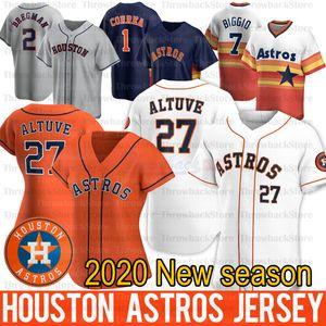 Houston George Springer Jersey Alex Bregman 27 Jose Altuve Zack Greinke Justin Verlander Yuli Gurriel 2020 Jerseys Temporada