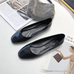 Summer new womens shoes fashion personality single shoe sheepskin upper with rubber outsole casual leather shoes With original box