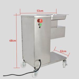 Kostenloser Versand 220V 50 Hz Küche Vertikaleart Fleisch in Scheiben schneiden Schneidemaschine Fleischschneider Slicer 500 kg / h