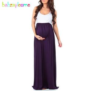 Summer Pregnancy Dresses For Women Maternity Plus Size Beach Long Dress Elegant Sleeveless Pregnant Clothes BC1720-1