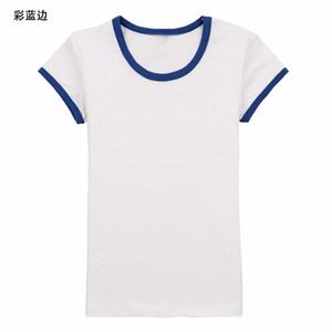 19ss 편안한 라이크라 코튼 칼라 티셔츠, 라운드 칼라와 짧은 소매 남자 티셔츠 디자이너 티셔츠 루스 버전