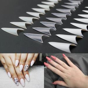 500pcs uñas postizas puntas con 10 tamaños puntas de las uñas de acrílico francés del estilete de los clavos falsos ABS extremidades artificiales Nail Art