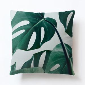 40 Stiller Yaprak Yastık Kapak Afrika Tropikal Rainforest Bitkiler Çiçek Yastık Atma Yastık Kapak Keten Sandalye Koltuk Yastık Kılıfı M.Ö. BH2659 yazdır