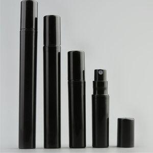 1000pcs / lot 2ML 3ML 4ML 5ML Siyah Mini Plastik Parfüm Şişeleri Küçük Numune Parfüm Atomizer Spray boşaltın