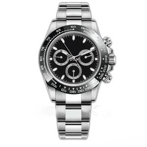 20 Style Luxury Mens Watch 116500LN Designer Guarda Montre de Luxe Automatic WristWatches in ceramica Bancia in ceramica Acciaio 316L Fibbia pieghevole adustavole