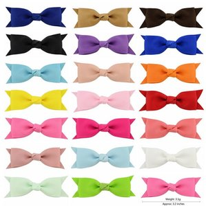 3.2 Inch Mix colors Grosgrain Bowknot Hair Clips Sweet Ribbow Bow Safety fashion Hair Clips Kids Hairpins Hair Accessory 664