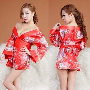Вкус нижнего белья женский стиль япония соблазнение кардиган халат Cos ведьма кимоно сексуальный равномерный костюм 7010 A114