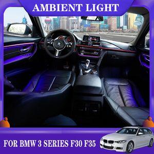 LED de luz ambiente carro neon Interior Porta AC painel de luz decorativa Atmosfera de luz para BMW Série 3 F30 F35 2013-2020