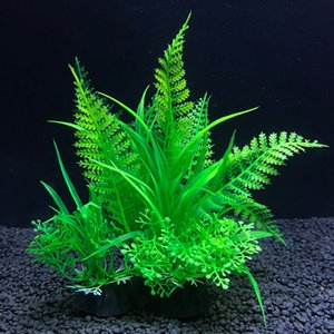 시뮬레이션 인공 식물 수족관 장식 물 장식 식물 물고기 탱크 수족관 잔디 14CM 장식