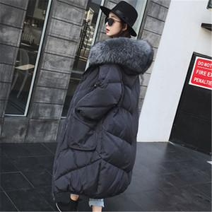 Fabrik-Großhandel Neu kommen weibliche lose über das Knie-Down Jacket Special Discount dicke Daunenjacke Damen Long Coat 775