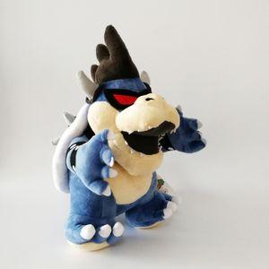 Luigi Bros Dunkle Bowser Koopa Soft-Puppe-Plüsch-Spielzeug für Kinder Weihnachten Halloween besten Geschenke 28cm