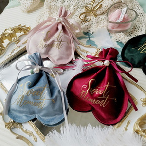 Candy Box Bag New Pearl Shape Wedding Favor Gift Boxes With Ribbon Party Bags Eco Friendly Packaging yq02004