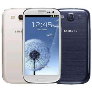 Reformado Original Samsung Galaxy S3 I9300 I9305 4,8 polegadas HD Quad Núcleo 1.4GHz GPS WiFi 3G WCDMA 4G LTE desbloqueado telefone inteligente DHL gratuito 1 pcs