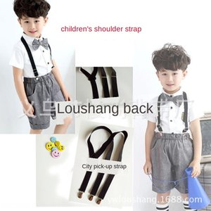 Cheap sling Clothing sling children black 3 clip strap 2.5cm wide in the big performance costume with suspenders