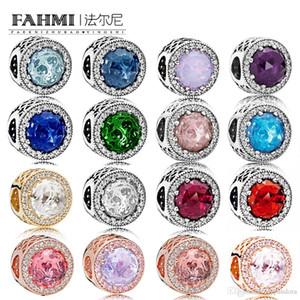 WPENNYI 100% argento sterling 925 RADIANT CUORI CHARM rilievo Multi-Color Selection monili originali Produttore all'ingrosso