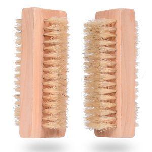 Holznagelbürste Zweiseitige Naturschweinborsten Holzmanikürenagelbürste SPA Zweiflächenbürste Handreinigungsbürsten 10 CM FFA2840