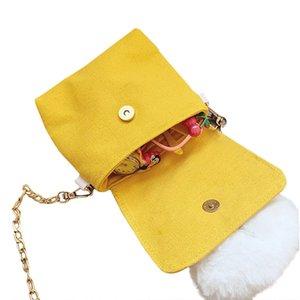 Crossbody Bag for Children Small Size with Plush Rabbit Pattern for Children Multipurpose Shoulder Bag for Children