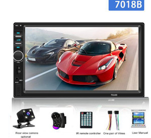 Autoradio 2Din General Car Radio 7'' LCD Touch Screen Stereo MP5 Player USB FM Bluetooth Audio Support Rear View Camera 7018B
