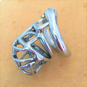 Ergonomic Stainless Steel Stealth Lock Male Chastity Device,Cock Cage,Fetish Virginity Penis Lock,Cock Ring,Chastity Belt