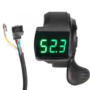 99V Elektrikli Bisiklet Hız Kontrolü Thumb Throttle için Parmak Parmak Gaz EBike Anahtarı LCD Dijital Akü Gerilimi görüntüleme 12V