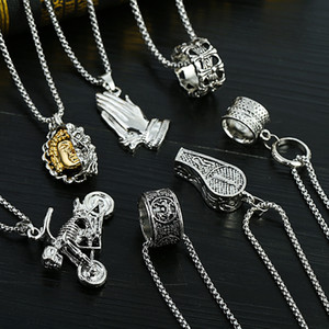 New hip-hop necklace jewelry nightclub trendy male stainless steel necklace men's necklace