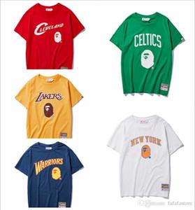 19BAPE A New BATHING 19 APE Laker Warriors Basketball Deportes Camiseta de baloncesto casual Camiseta M-3XL
