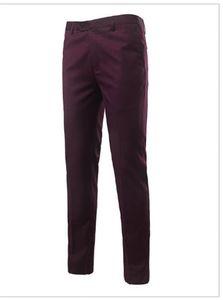Business Men Formal Suit Pants Wedding Bridegroom Solid Color Mens Designer Trousers Straight Slim Summer Mens Long Pants