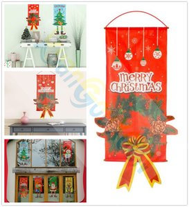 Christmas decorations festive party shopping malls windows bar Halloween wall tapestry flags Santa Claus snowman ornament hanging cloth
