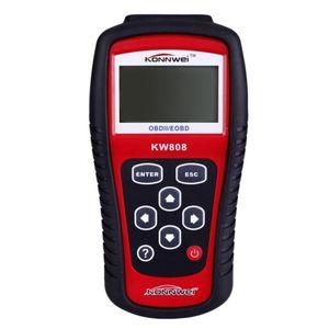 Konnwei Kw808 Obd Car Scanner Obd2 Auto Automotive Diagnostic Scanner Tool Supports Can J1850 Engine Fualt Code Reader