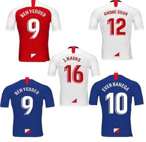 2020 Sevilla futebol Jersey 2019 Camisetas Sevilha FC Chicharito De Jong Ever Banega Marcos Lopes Dabbur L.OCAMPOS homem miúdos do futebol camisas