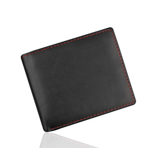 para ve kartlar için Man Çanta Kart Sahibi İş Deri Cüzdan Kimlik Kredi Kart Sahibi Çanta Cepler MONEDERO hombre erkek cüzdan