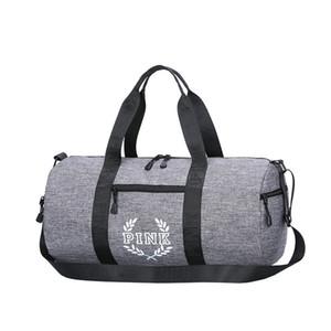 도매 5 개 색상 핑크 편지 더플 가방 여성 남성 핸드백 대용량 여행 더플 가방 방수 비치 가방 어깨 가방