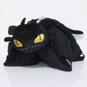 "1515"" 39cm How to Train Your Dragon Toothless Night Fury Plush Pillow Soft Stuffed Cushion Toys"