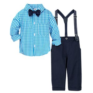 Baby Wedding Cute Outfit Infant Gentleman Formal Clothing Set Toddler Birthday Party Gift Suit Shirt Pants Overalls
